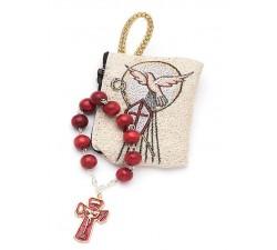 Decina ricordino Santa Cresima con borsellino porta decina