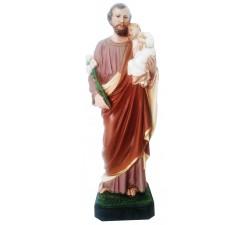 statua san giuseppe in vetroresina dipinta a mano