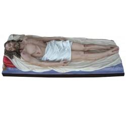 Statua Gesù morto in vetroresina dipinta a mano per processione