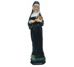 statua santa Rita in vetroresina dipinta a mano