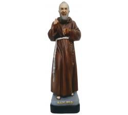 statua san padre Pio in vetroresina dipinta a mano