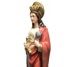 statua santa barbara in resina dipinta a mano