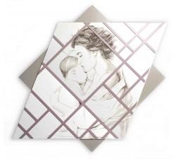 Grande Pannello Capoletto Madonna con Bambino in Legno Laccato