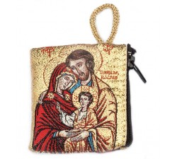 Borsellino Portarosario in Tessuto Decorato Sacra Famiglia