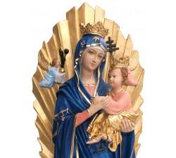 Statua Madre del Perpetuo Soccorso in resina dipinta a mano