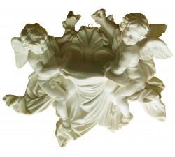 Acquasantiera con Angeli in Polvere di Marmo