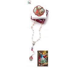 Rosario Devozionale San Michele Arcangelo con libro Corona Angelica
