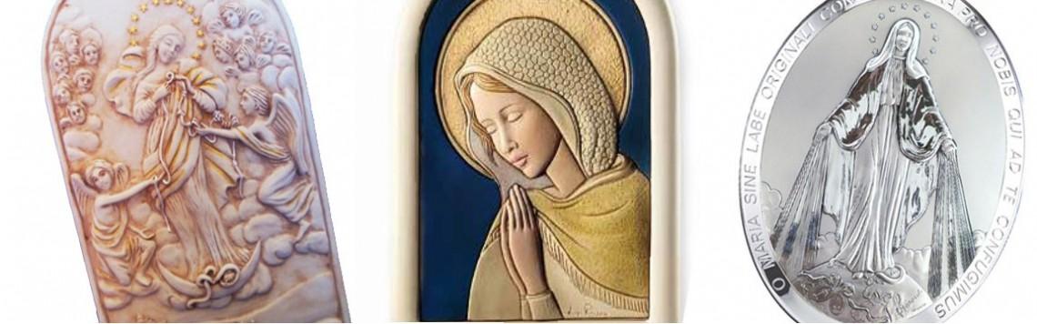 Quadri argento immagini Vergine Maria