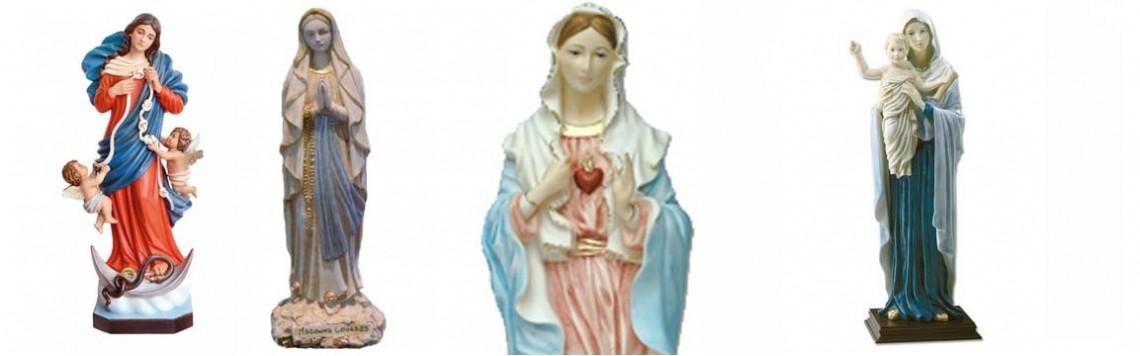 Statue Vergine Maria,realizzazioni Alto Artigianato Artistico Italiano