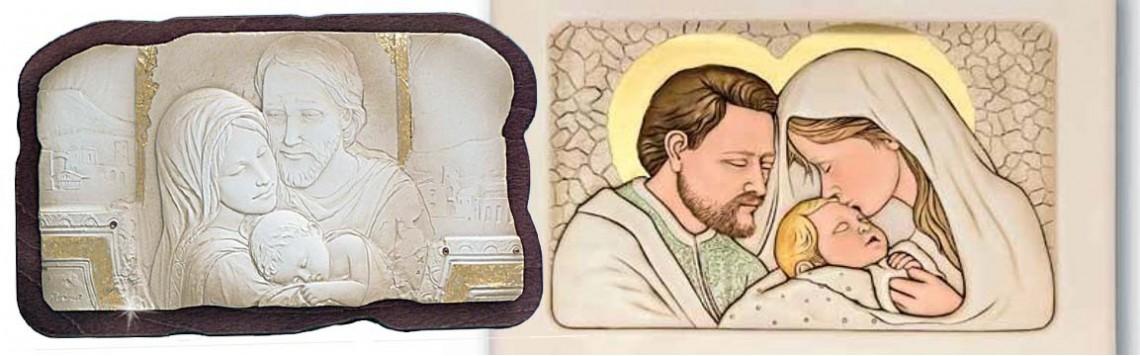 Quadri Sacra Famiglia in Argento | Icone Sacre