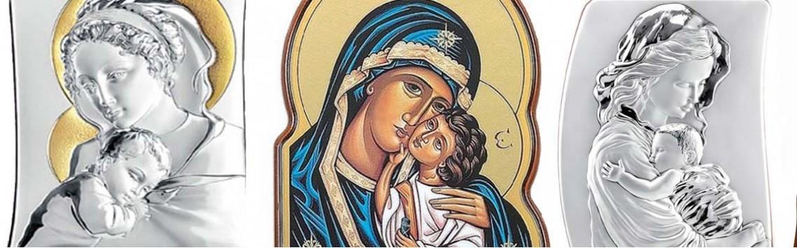 Quadri e Icone in Argento Madonna con Bambino